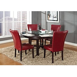 Delicieux Hartford 6 Pc Red Dining Set
