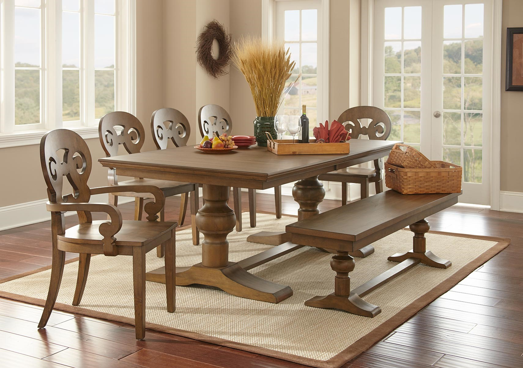 Lacks | Grayson 6-Pc Dining Room Set