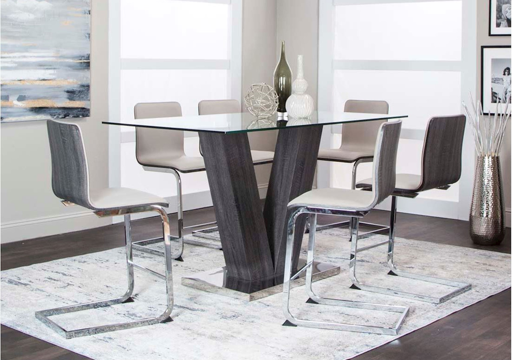 Axel Holden 7 Pc Modern Counter Height Dining Set
