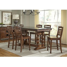 Attractive Andover 5 Pc Counter Height Dining Set