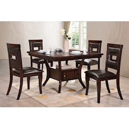 lacks lubbock 5 pc counter height dining set. Black Bedroom Furniture Sets. Home Design Ideas