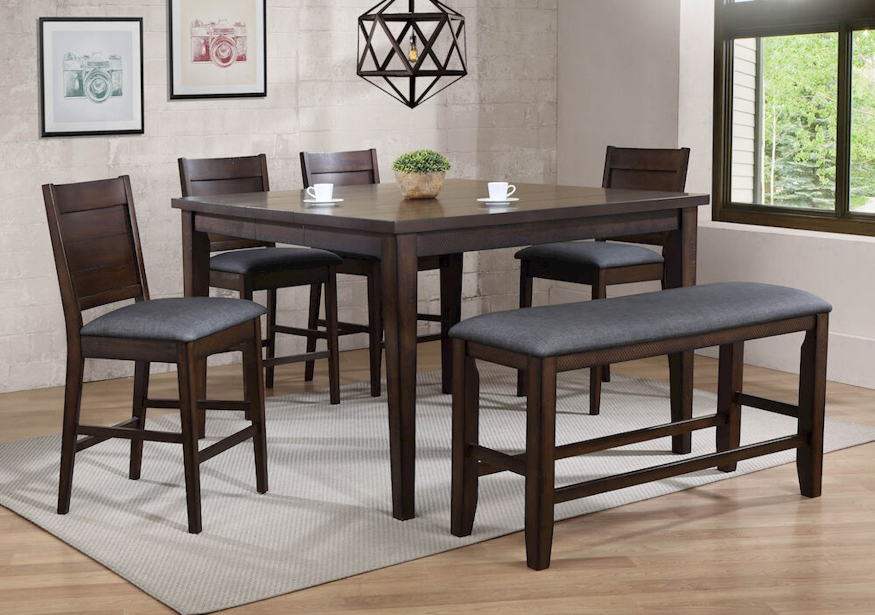 Broadway 6 Pc Counter Height Dining Set