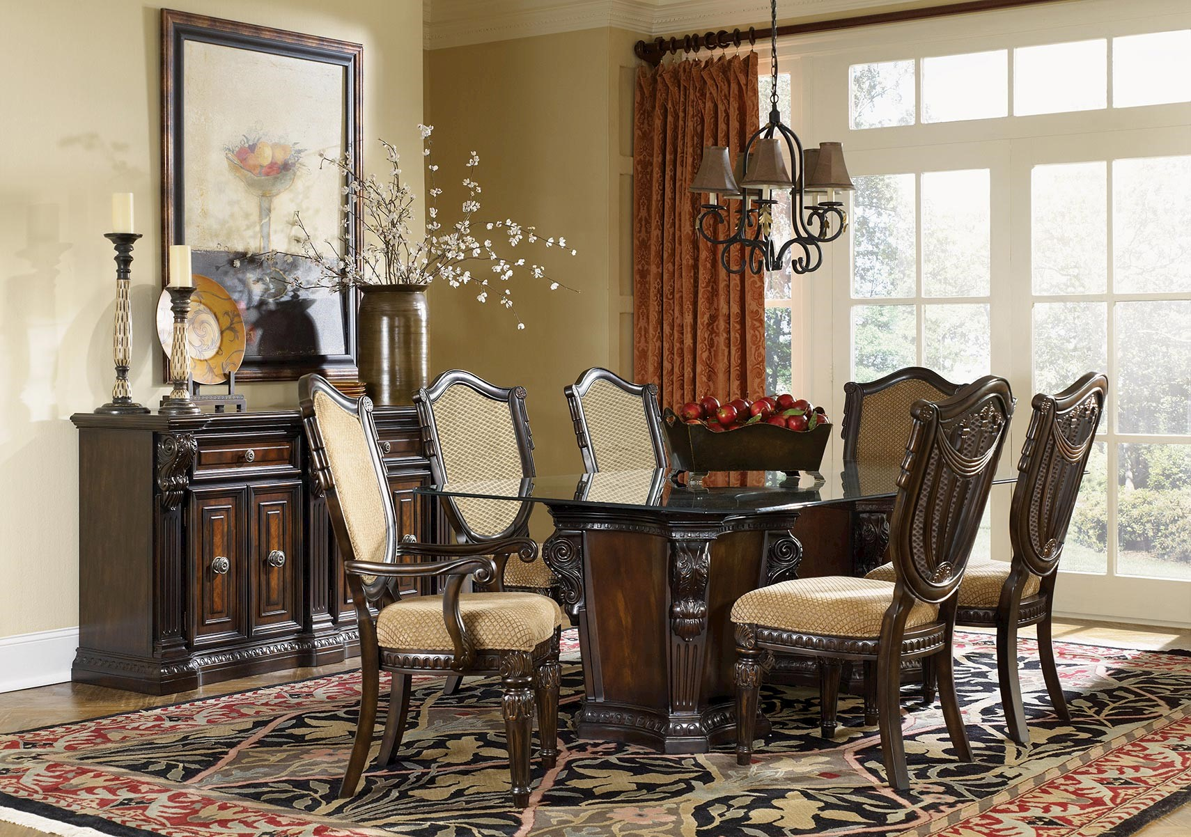 lacks | grand estates 7-pc glass dining set