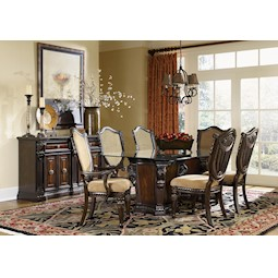 lacks | grand estates 5-pc round glass dining set