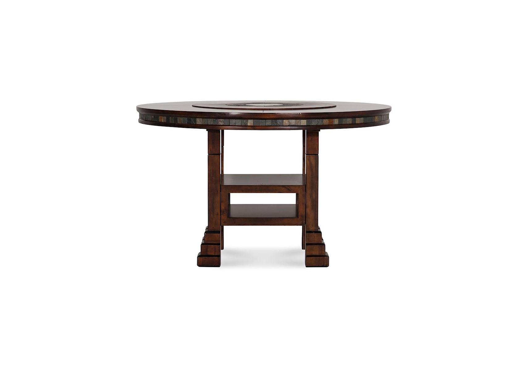 Santa Fe Adjustable Height Round Table