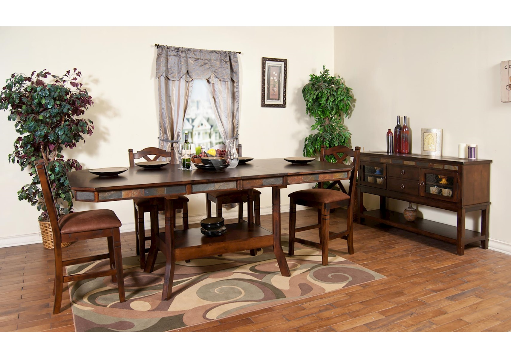 Lacks | Santa Fe 7 Pc Counter Height Dining Set