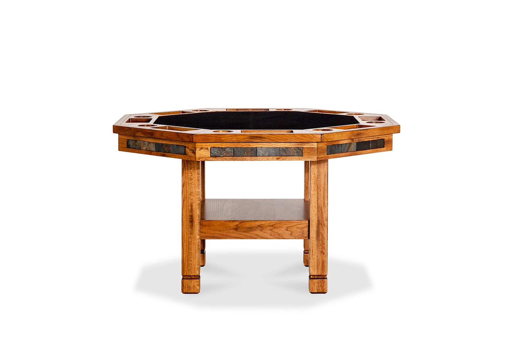 Santa Fe Convertible Game Table Rustic Brown