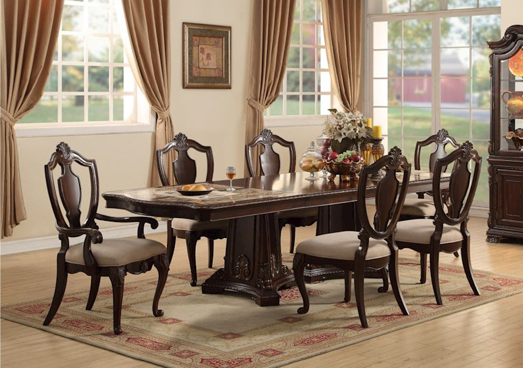 Lacks | Riviera 9 Pc Dining Room Set