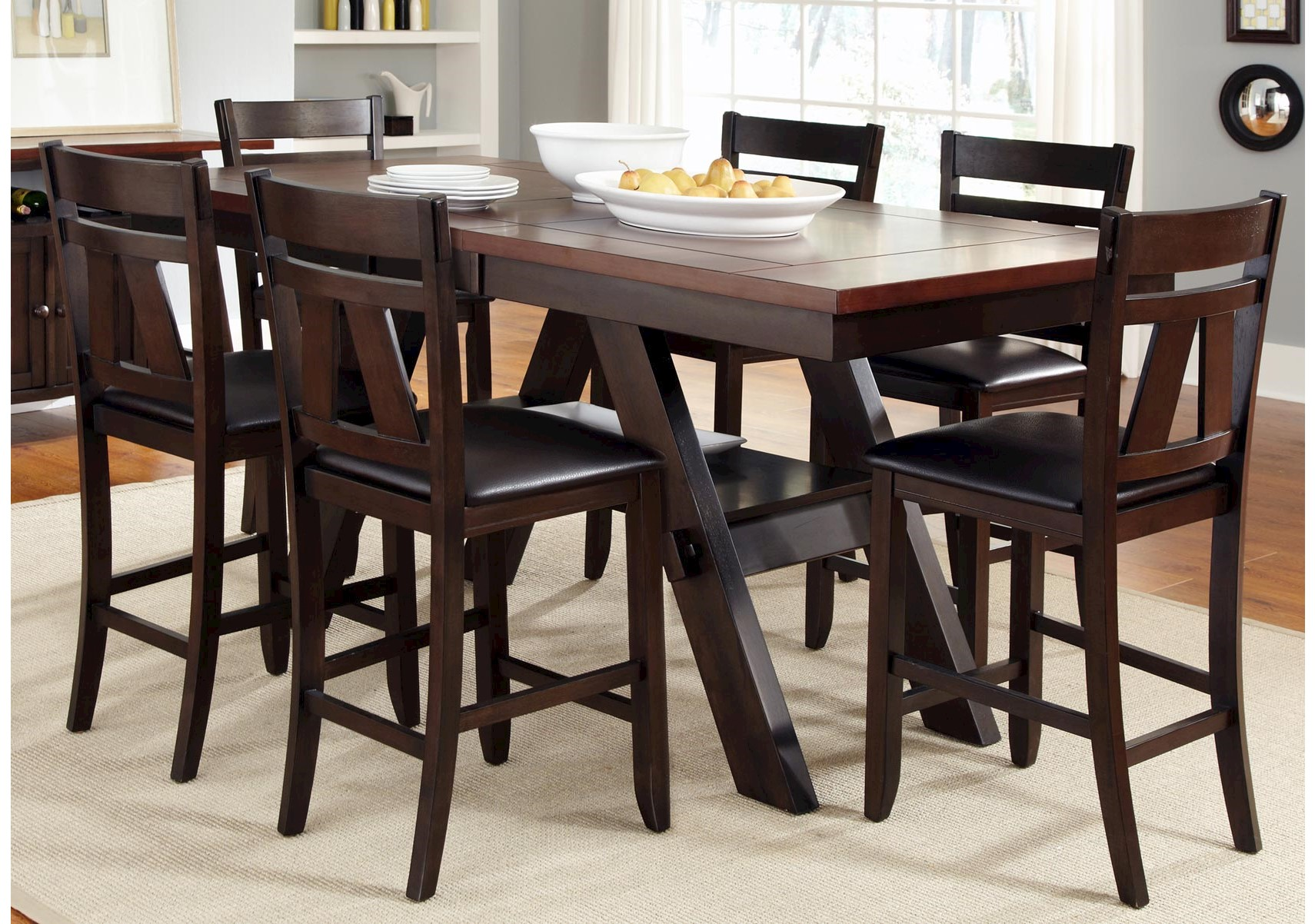 Lawson 7 Pc Counter Height Dining Set