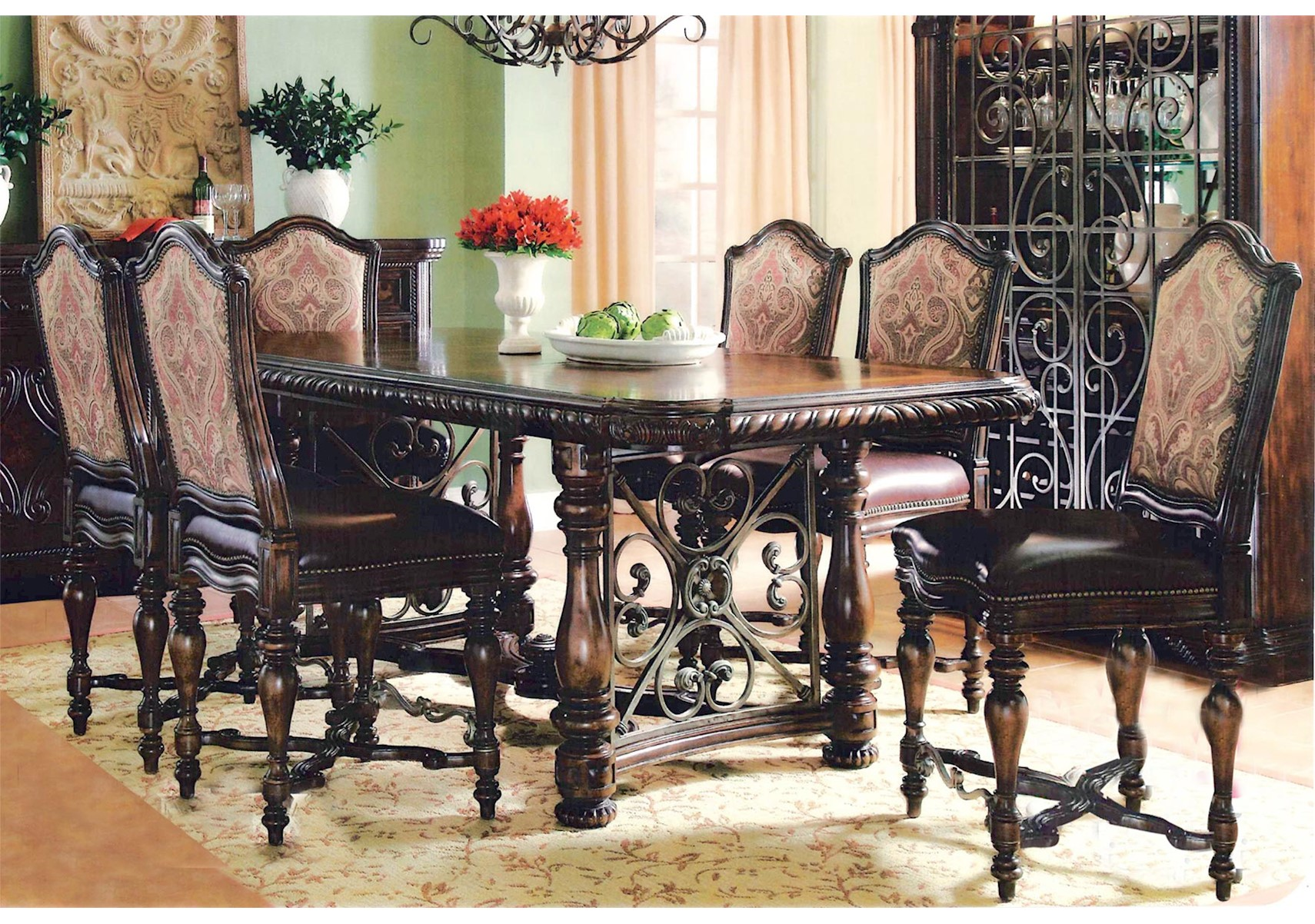 Lacks | Valencia 7 Pc Counter Height Dining Set