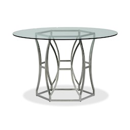 Lacks Argent Round Dining Table