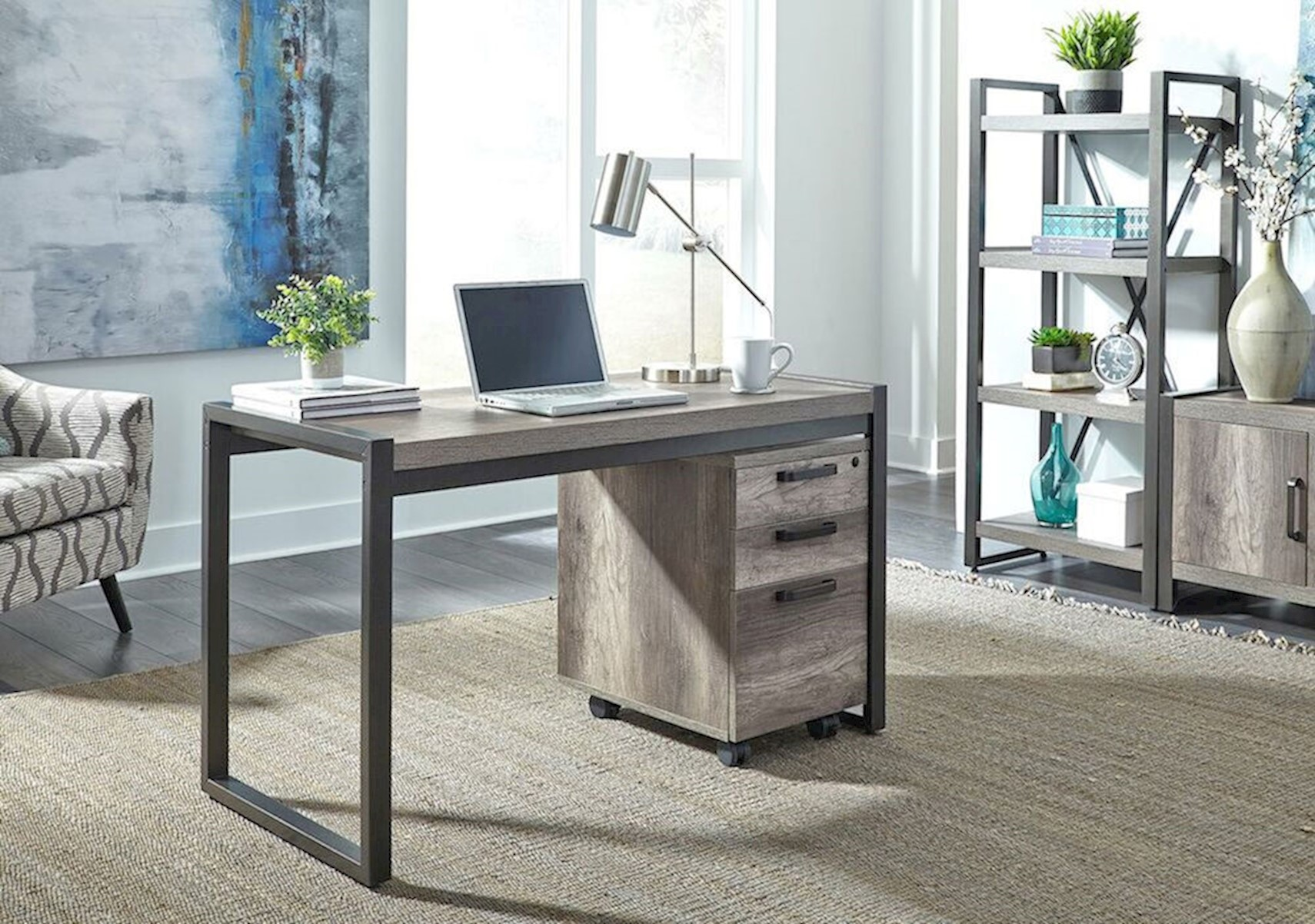 Lacks | Tanners 2-Pc Desk with File Cabinet