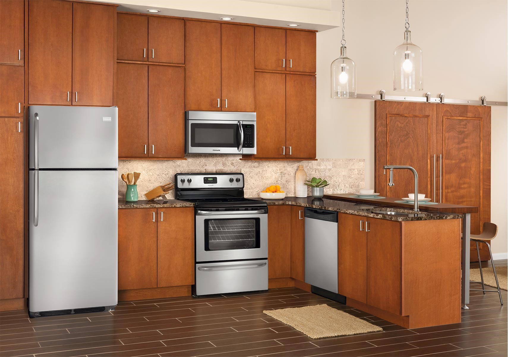 lacks | frigidaire stainless steel kitchen appliance package with