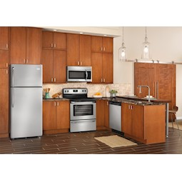 frigidaire stainless steel kitchen appliance package with electric stove - Kitchen Appliance Bundles