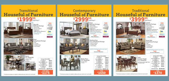 Choose From 3 Houseful Package Styles